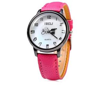 Relógio Feminino Ibeli 808 Qurtzo Mostrador De Padrão