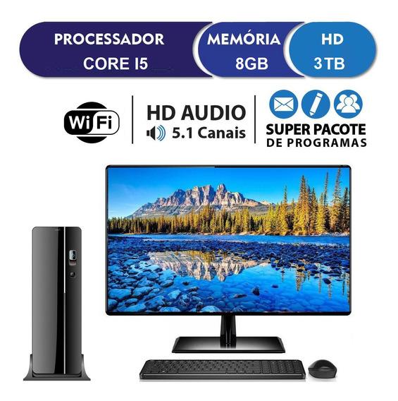 Computador Pc Cpu Completo Intel Core I5 8gb 3tb Monitor 19