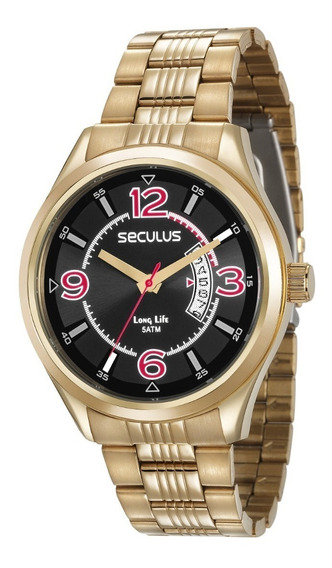 Relógio Analógico Seculus Masculino - 23647gpsvda3