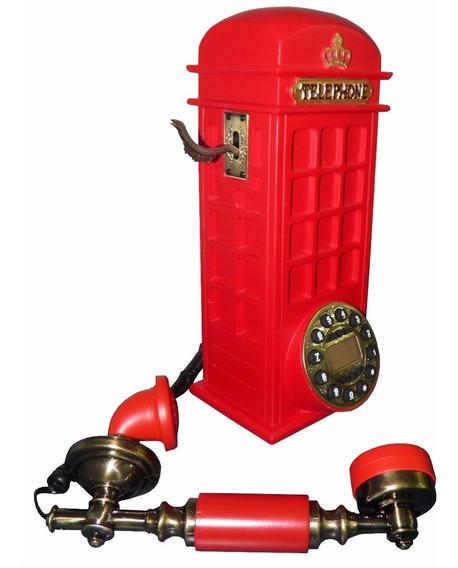 Telefone Vintage Rosa Antigo Retro Decoração