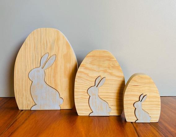 3 Pzs Decoración Conejos Recamara Niños Casa Hogar