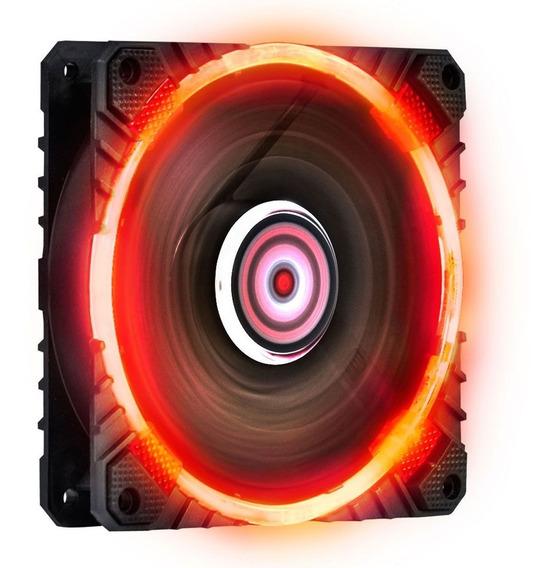 Fan Cooler Calafrio 120mm Com Led Vermelho Pcyes Fcal120ldvm