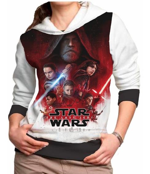 Blusa Feminina Star Wars Capuz Casaco Moletom Roupa