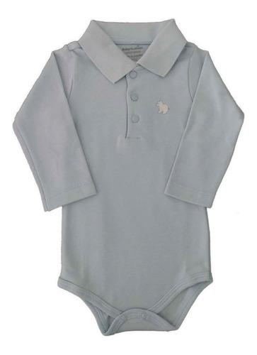 Imagem 1 de 3 de Body Polo - Azul - Baby Fashion