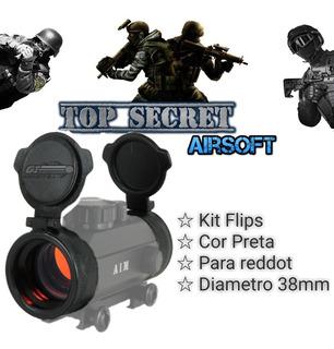 Kit Flip Proteção Para Lente Red Dot Airsoft Paintball