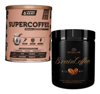 Supercoffee Caffeine Army + Braincoffee Betterlife