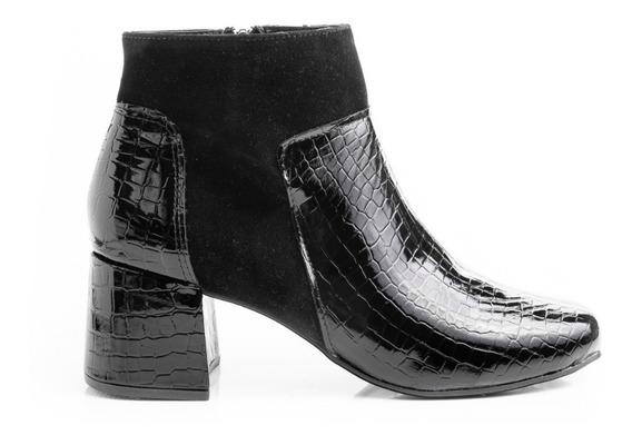 Botinetas Zapatos Mujer Botas Dama Botitas Texanas Cuero