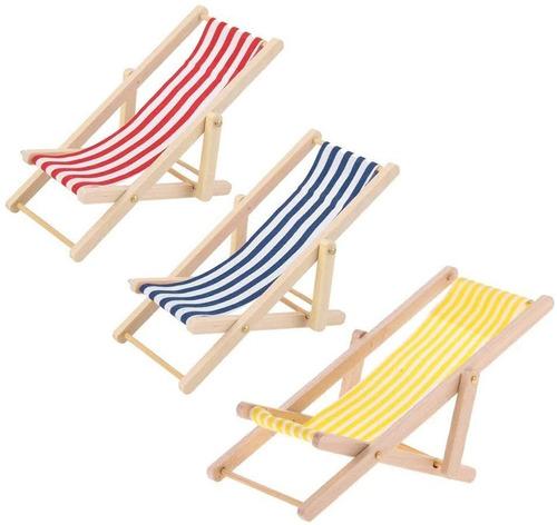 Imagen 1 de 6 de Kodoria 3 Piezas De Silla De Playa Plegable En Miniatura De
