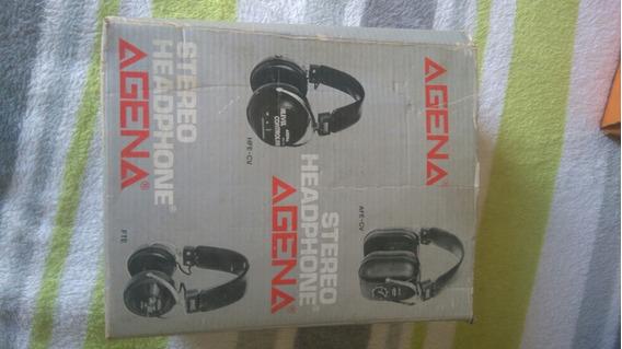 Headphone Fone De Ouvido Agena Antigo Vintage