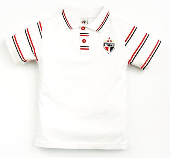 Camisa Polo Do São Paulo Infantil Oficial Menino