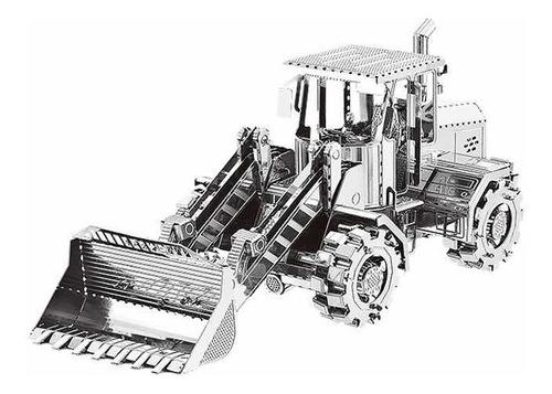 Bulldozer Rompecabezas Metálico 3d En Stock! Envío Ya!
