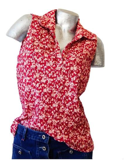 Camisa Musculosa Cerrada Floreada- High Sierra-