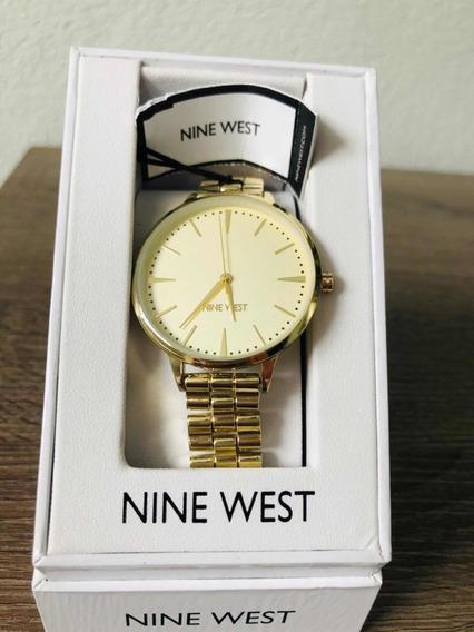 Reloj Nine West Dama Dorado Original