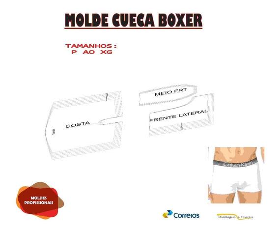 Molde De Cueca Boxer Do P Ao Xg Um Dentro Do Outro