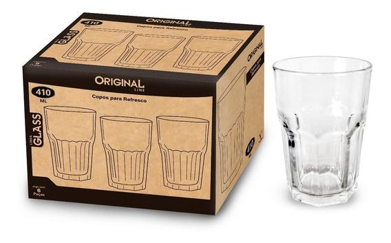 Kit 6 Copos De Vidro Para Suco / Agua / Refrigerante 400ml