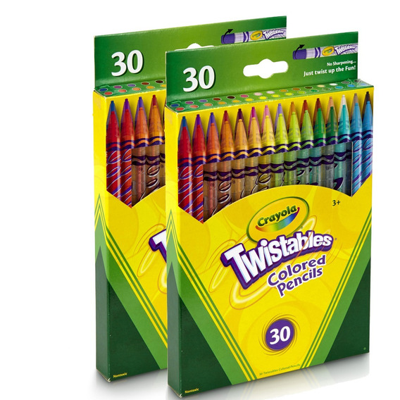 2 Unidades Lapis De Cor Crayola 30 Cores Twistables
