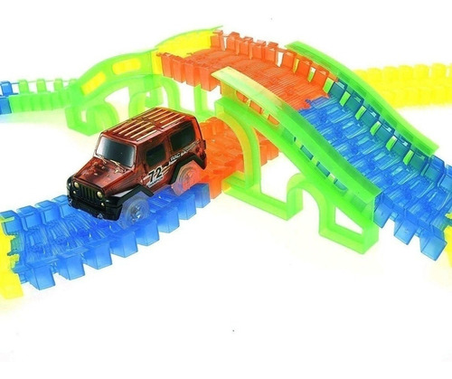 Glow Track Pista De Auto Luminosa Fácil Encastre 169 Pcs