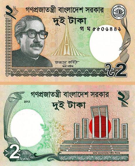 Ásia País Bangladesh 1 Uma Cédula Estrangeira 2 Taka Fe Nova
