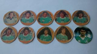 Lote 10 Figuritas Redondas Ferro Carril Oeste 1980-93