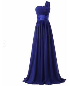 Vestido Festa Madrinha Casamento Formatura Azul