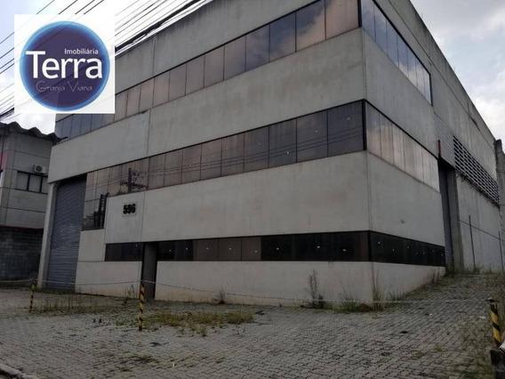 Galpão Para Alugar, 998 M² Por R$ 25.000,00/mês - Parque Industrial San José - Cotia/sp - Ga0144