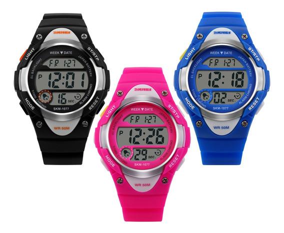 Relógio De Criança Infantil Skmei Esportivo Digital Rosa
