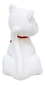 Gato Branco Com Coração 25cm - Pelúcia