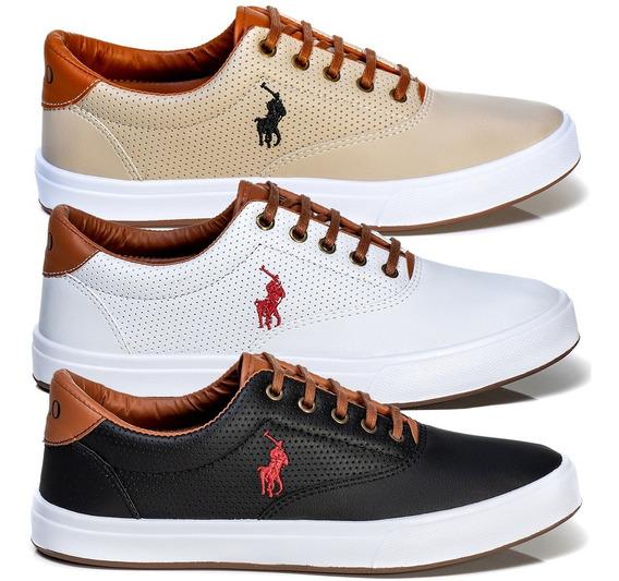 Kit 3 Pares - Tenis Masculino Sapato Sapatenis Polo Wey