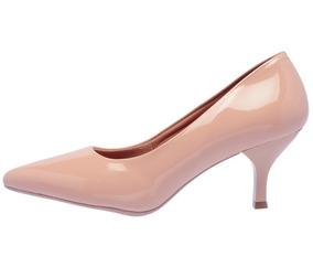 34546ebd3 Sapato Feminino Scarpin Verniz Salto 4,5 Cm - Pronta Entrega
