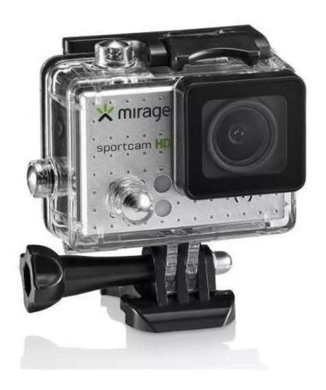 Câmera De Acão Miragem Sport Mr3000 Prata + Cartao De 16gb