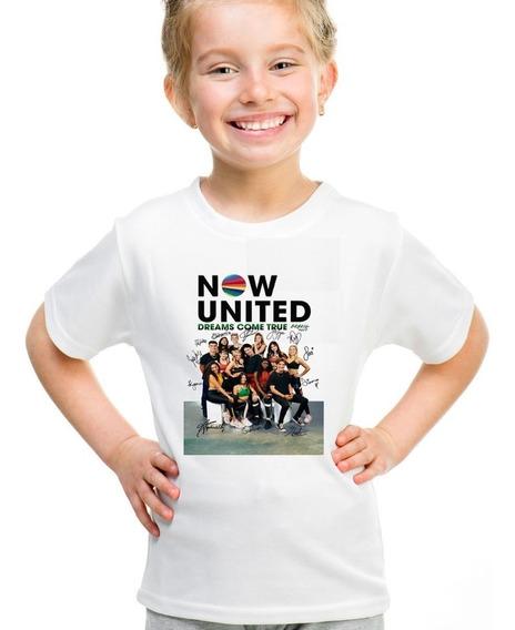Camiseta Infantil Now United Autografo Banda Personalizado