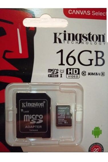 Cartão Memória Micro Sd 16gb Kingston Lacrado Original.