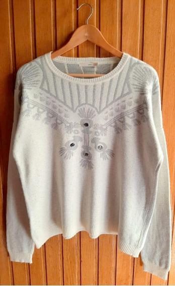 Sweater Uma Estampado Con Apliques - No Rapsodia Zara
