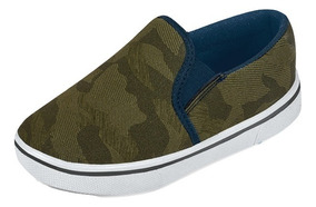 Tenis Sneaker Cklass Niños Sintetico Verde Militar 30059 Dtt
