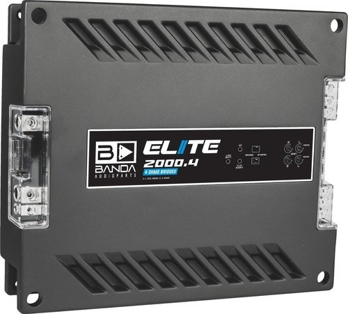 Modulo Banda Elite 2000.4 2000 Rms 4 Canais Bridge 4 Ohms