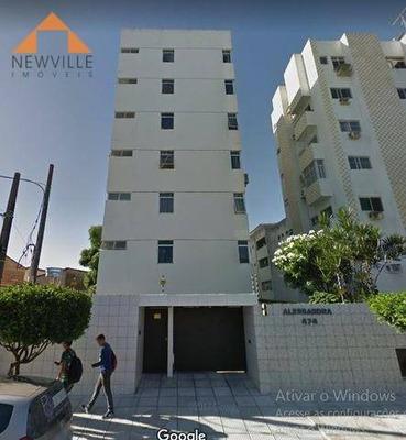 Apartamento Com 2 Dormitórios Para Alugar, 80 M² Por R$ 1.200/mês - Boa Viagem - Recife/pe - Ap1442