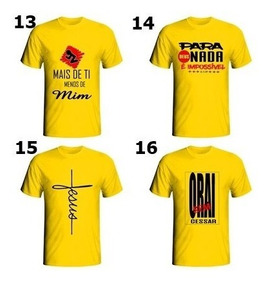 Camisas Frases Evangelicas Masculino Atacado Kit C/5