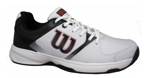 Tênis Open Masculino Preto Branco E Vermelho Wilson