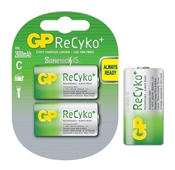 Baterias Recargables Tipo C Gp Recyko 3000mah Blister De 2