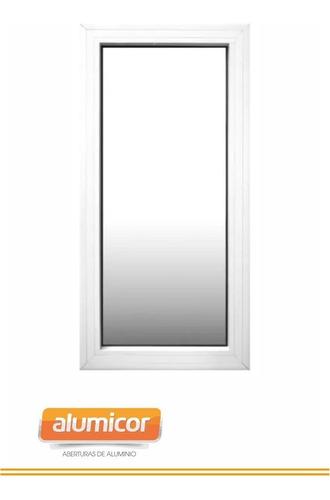 Ventana Paño Fijo Aluminio Modena 1.5 X1.5 Templado 5mm