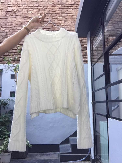 Sweater Forever 21 Talle L Blanco
