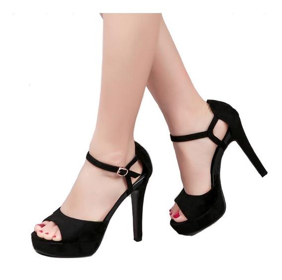 Zapatos Peep Toe De Tacón Alto Para Mujer