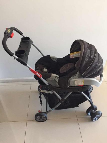 Cochecito Porta Huevito De Bebé Con Base Para Auto Impecable