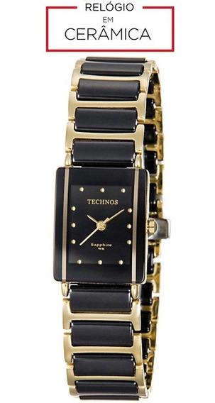 Relógio Technos Cerâmica Safira 5y30mypai/4p Preto Original