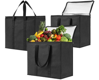Bolsas De Supermercado Reutilizables Con Aislamiento 3 Pack
