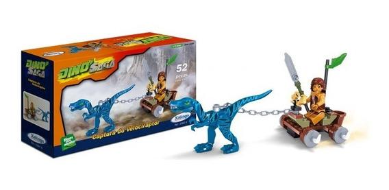 Bloco De Montar Saga Captura Do Velociraptor -03876 Xalingo