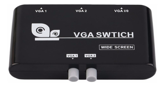 Switch 2 Puertos Vga - 2 Pc 1 Monitor