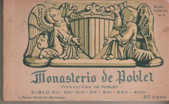 Antiguo Libro De 20 Postales * Monasterio De Poblet España
