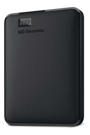 Hd Portátil Externo Wd Elements 1tb Wdbuzg0010bbk Usb 3.0