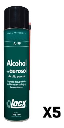 Alcohol Aerosol Etilico X 5 419ml Desinfectante Alta Pureza